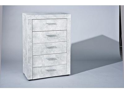 Commode 5 tiroirs Beton