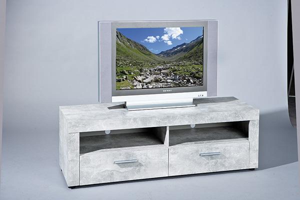 Meuble tv beton gris clair Meuble salon gris clair