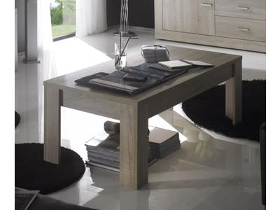 Table basse Aura chene samoa/gris mat