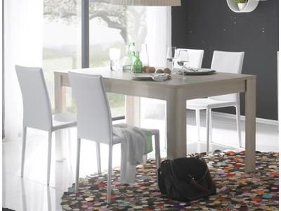 Table de repas Aura chene samoa/gris mat