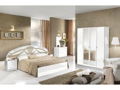 Lit Athena chambre a coucher blanc