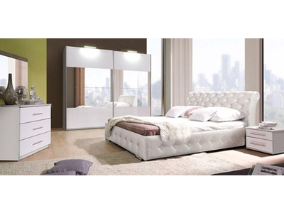 commode 3 tiroirs chester chambre a coucher blanche. Black Bedroom Furniture Sets. Home Design Ideas
