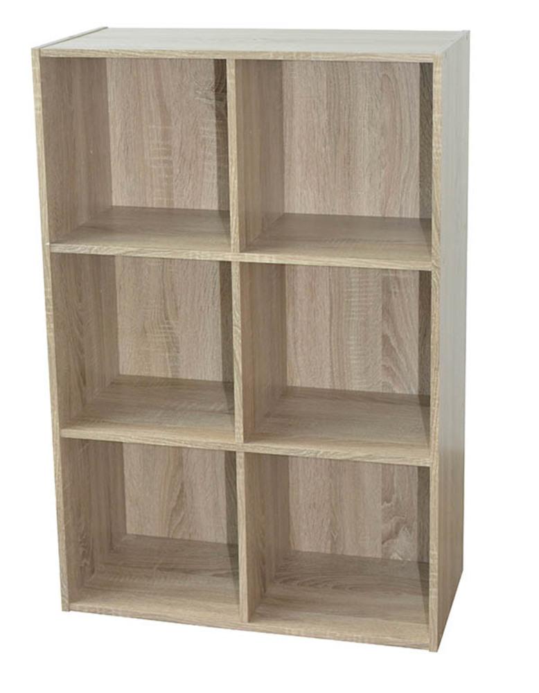 rangement 6 cases compo 08 chene. Black Bedroom Furniture Sets. Home Design Ideas