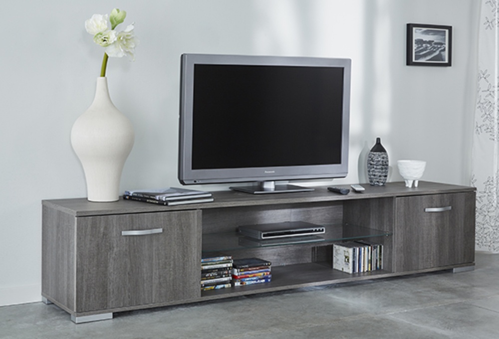 meuble tv namur chene prata l 218 x h 43 x p 42. Black Bedroom Furniture Sets. Home Design Ideas