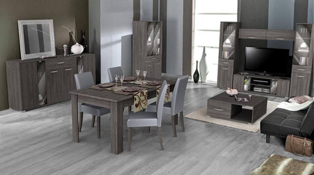 Meuble tv namur chene prata l 139 x h 43 4 x p 41 7 for Ensemble meuble salon salle a manger