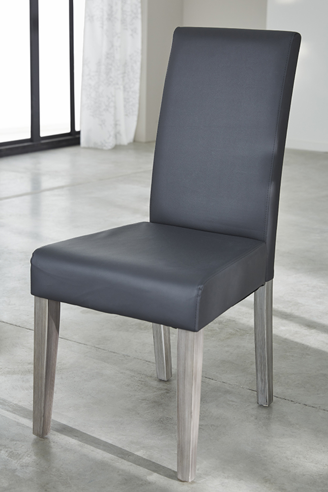 Chaise namur gris for Chaise de salle a manger