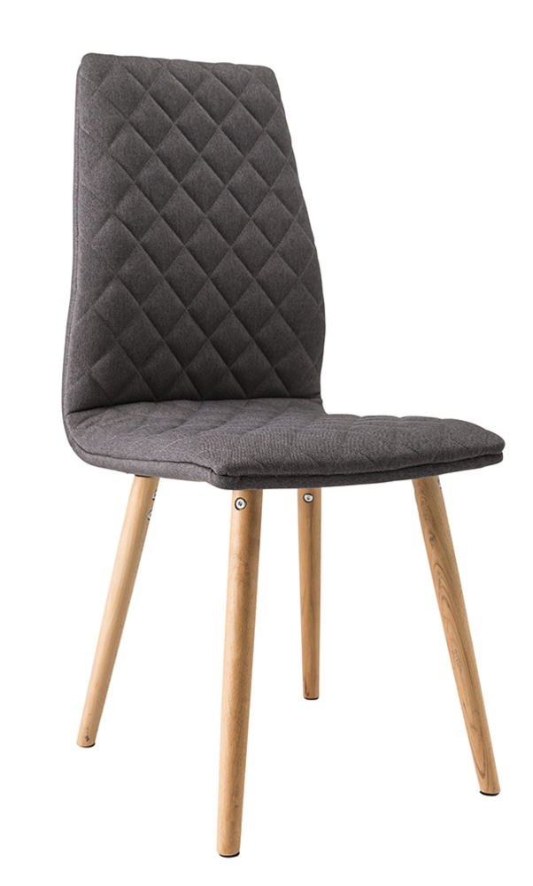 Chaise lecco naturel gris for Chaise de salle a manger ikea