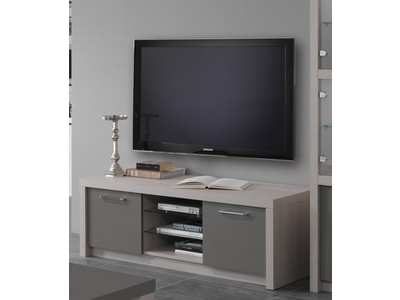 meuble tv plasma lux laque blanc. Black Bedroom Furniture Sets. Home Design Ideas