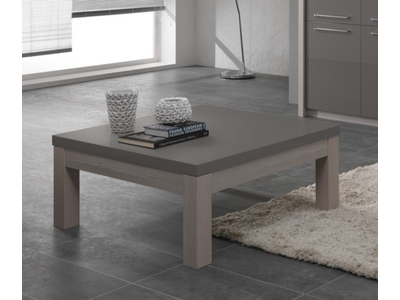 Table basse Fano chene blanchi/laque gris