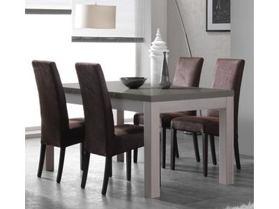 Table de repas Fano chene blanchi/laque gris