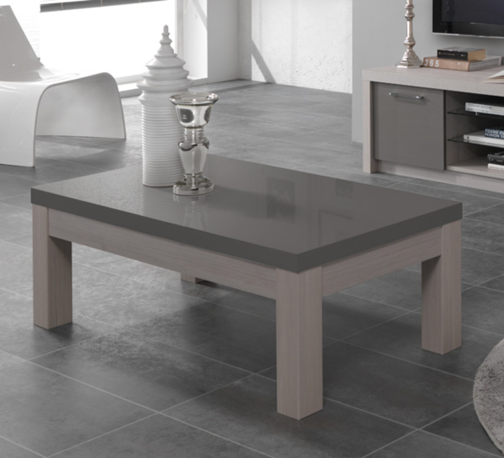 Table basse fano chene blanchi laque gris chene blanchi for Table basse chene blanchi