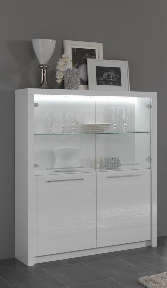bar vitr fano laque blanc blanc brillant. Black Bedroom Furniture Sets. Home Design Ideas
