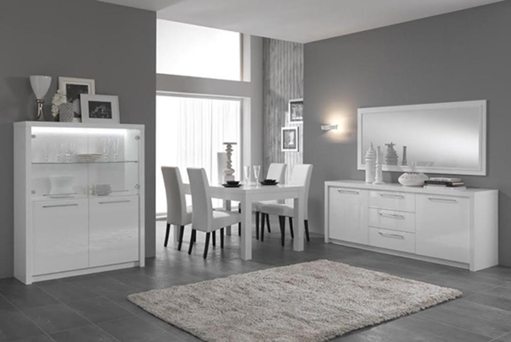 Table de repas Fano laque blanc Blanc brillant L 160 X H 78 X P 90
