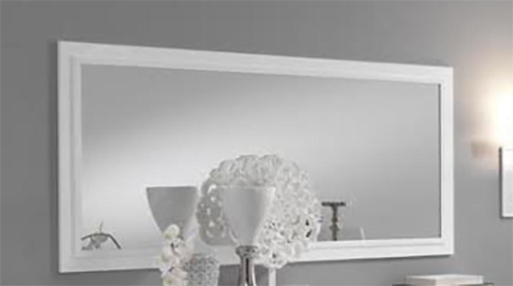 Miroir fano laqu blanc et gris blanc brillant for Grande glace murale