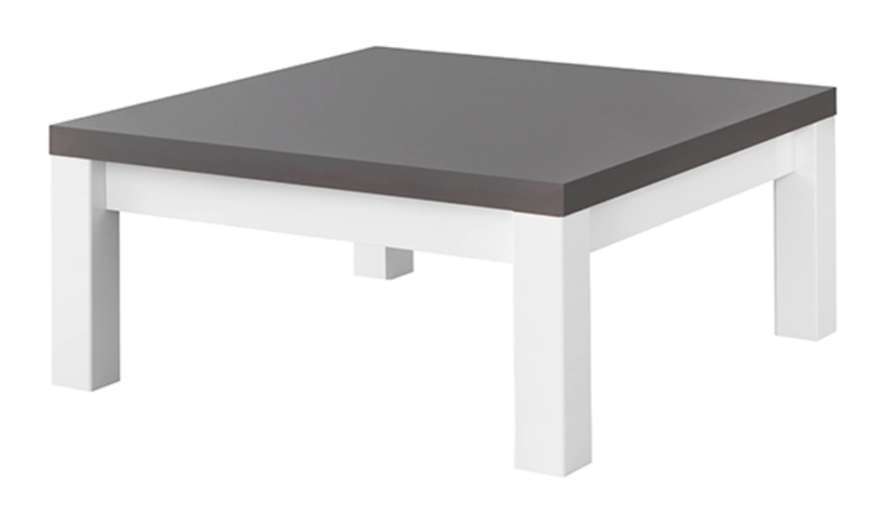 Table basse fano laqu blanc et gris blanc brillant gris - Table sejour blanc laque ...
