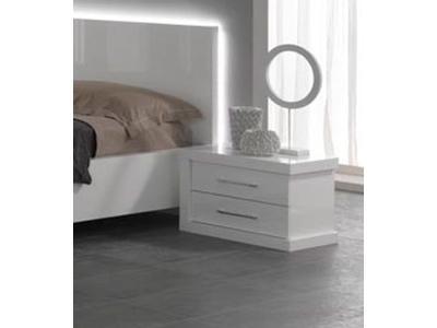 Chevet 2 tiroirs droite Ancona laque blanc cac