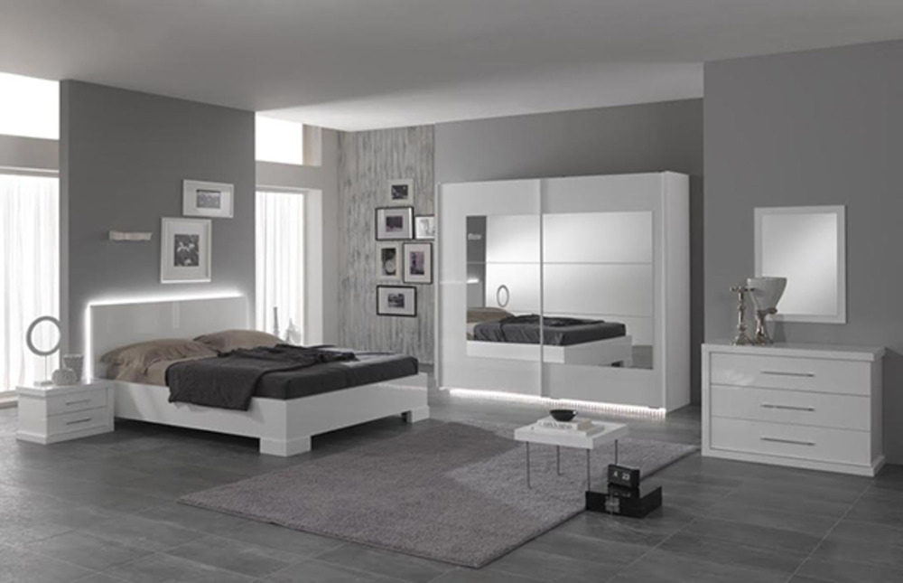 commode 3 tiroirs ancona laque blanc chambre coucher blanc. Black Bedroom Furniture Sets. Home Design Ideas