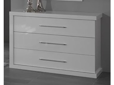 commode 3 tiroirs gloria noir et blanc blanc noir. Black Bedroom Furniture Sets. Home Design Ideas