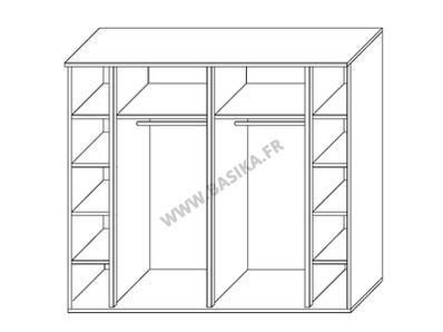 armoire 2 portes coulissantes ancona laque blanc grisl 240. Black Bedroom Furniture Sets. Home Design Ideas