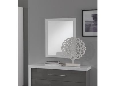 Miroir Ancona laque blanc/gris