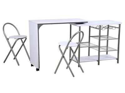 Table + 2 chaises Ellis