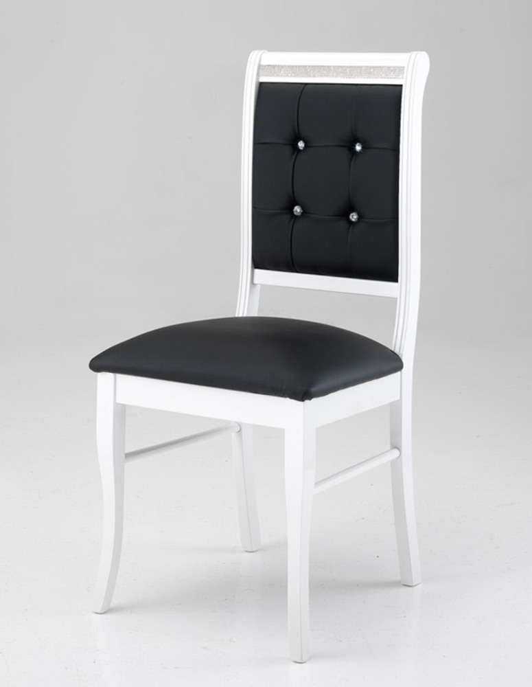 Chaise blanc et noir homeezy for Chaise noir blanc