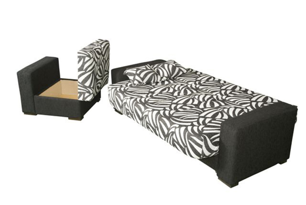 clic clac pouf coffre galia pvc blanc bambu chocolat 11. Black Bedroom Furniture Sets. Home Design Ideas