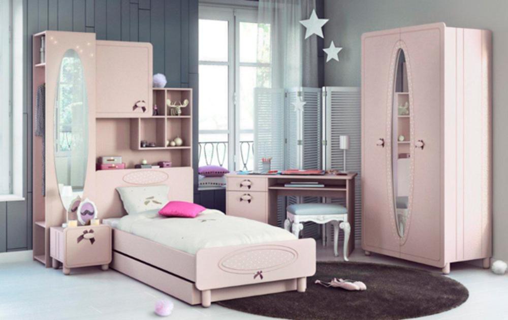 Commode 3 tiroirs charlotte rose pale - Lit pont enfant ...