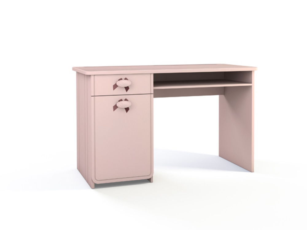 Bureau charlotte rose pale for Meuble bureau 120