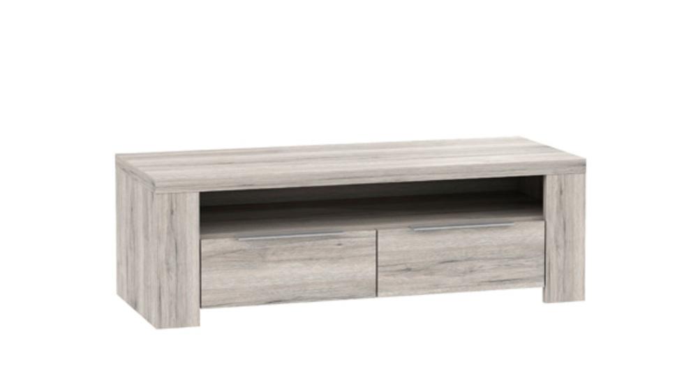 meuble tv 2 tiroirs 1 niche calpe chene cendr. Black Bedroom Furniture Sets. Home Design Ideas
