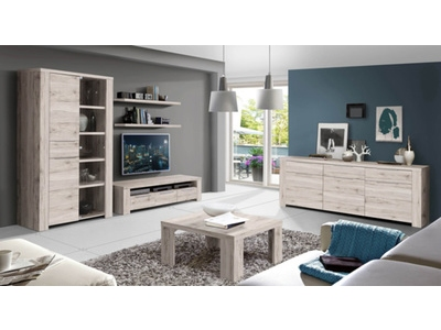 Meuble tv 2 tiroirs 1 niche Calpe chene cendre