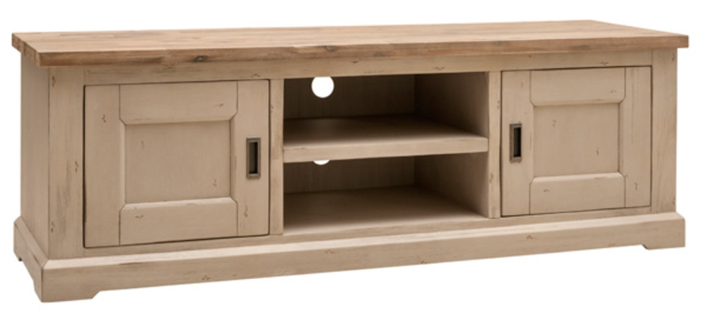 meuble tv hifi verona acacia blanchi. Black Bedroom Furniture Sets. Home Design Ideas