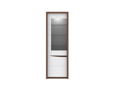 bahut 2 portes 5 tiroirs saint tropez noyer blanc brillant. Black Bedroom Furniture Sets. Home Design Ideas
