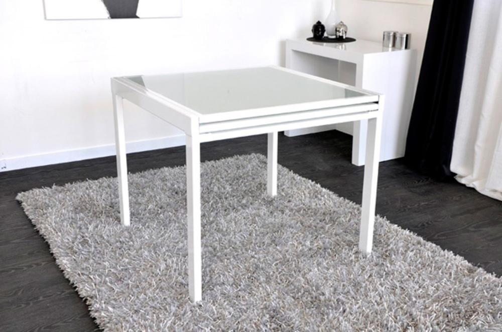 Table De Repas Extend Blanc L 90 X H 76 X P 90