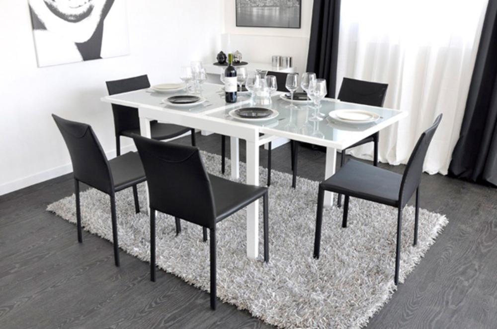 e113a0e8620cc6 Table de repas Extend Blanc L 90 X H 76 X P 90