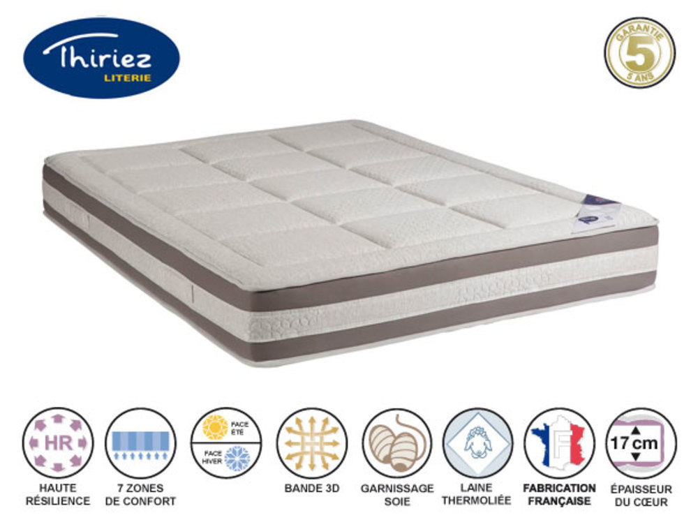 matelas mousse alveo emblematique thiriez l 140 x h 24 x p 190. Black Bedroom Furniture Sets. Home Design Ideas