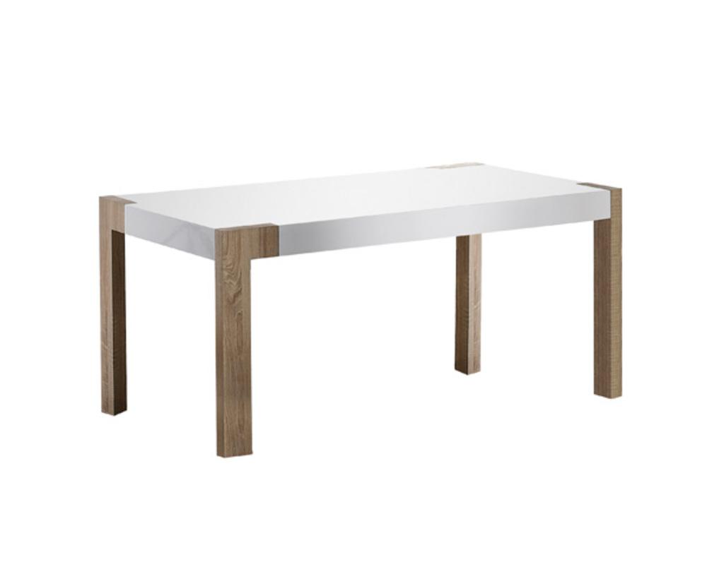 Table basse pretty chene sonoma blanc brillant for Table basse sonoma