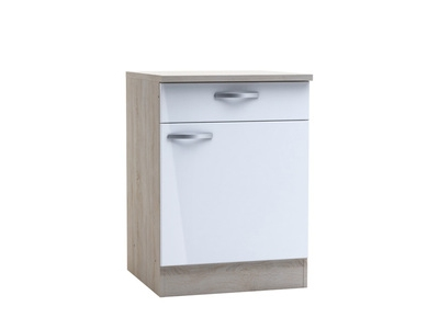 Bas 60 1 porte 1 tiroir Chantilly