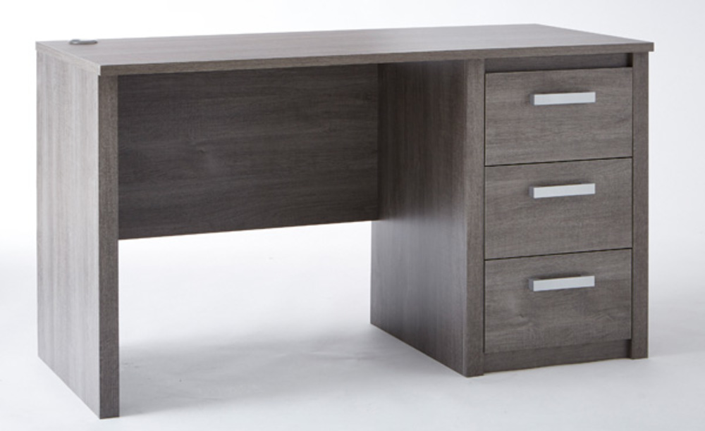Bureau 3 tiroirs sherwood chene prata for Meuble a tiroir sous bureau