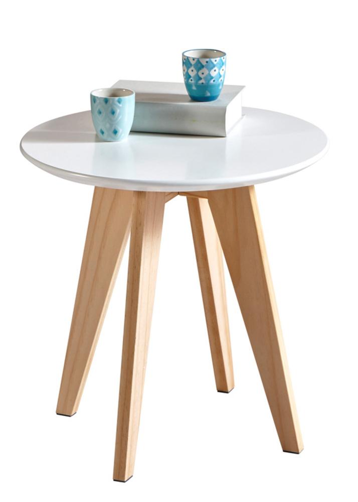 bout de canap rondy blanc. Black Bedroom Furniture Sets. Home Design Ideas