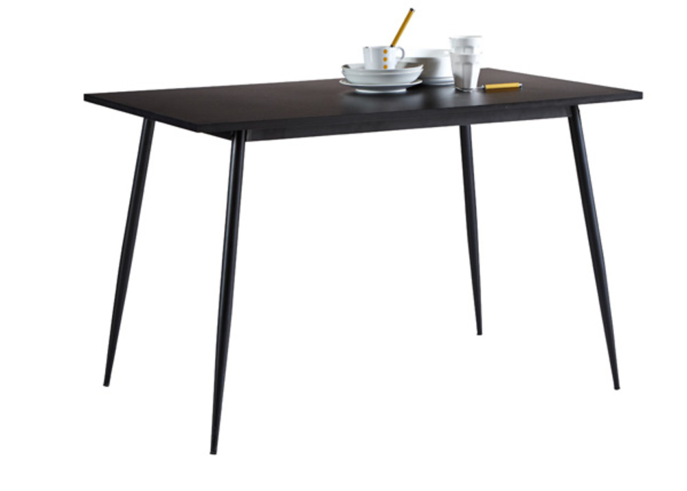 Table de cuisine niko noir - Table cuisine rectangulaire ...
