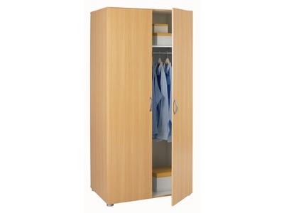 Armoire 2 portes essentiel hetre l 80 x h 1666 x p 51 for Robe de chambre enfant avec la redoute matelas memoire de forme