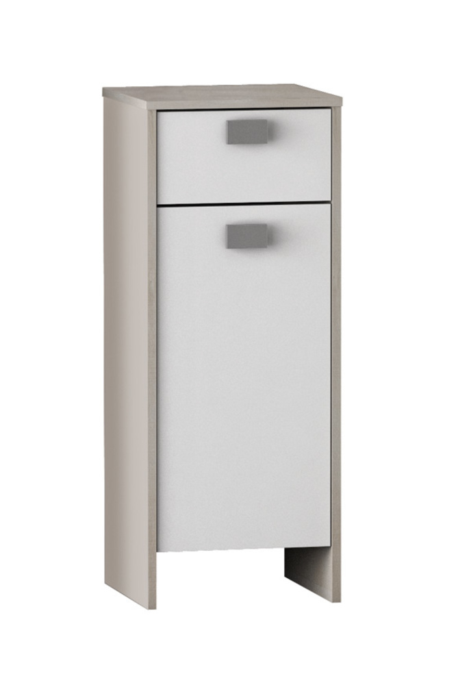 Element bas 1 porte 1 tiroir hawai chene champagne blanc for Meuble 1 porte 1 tiroir