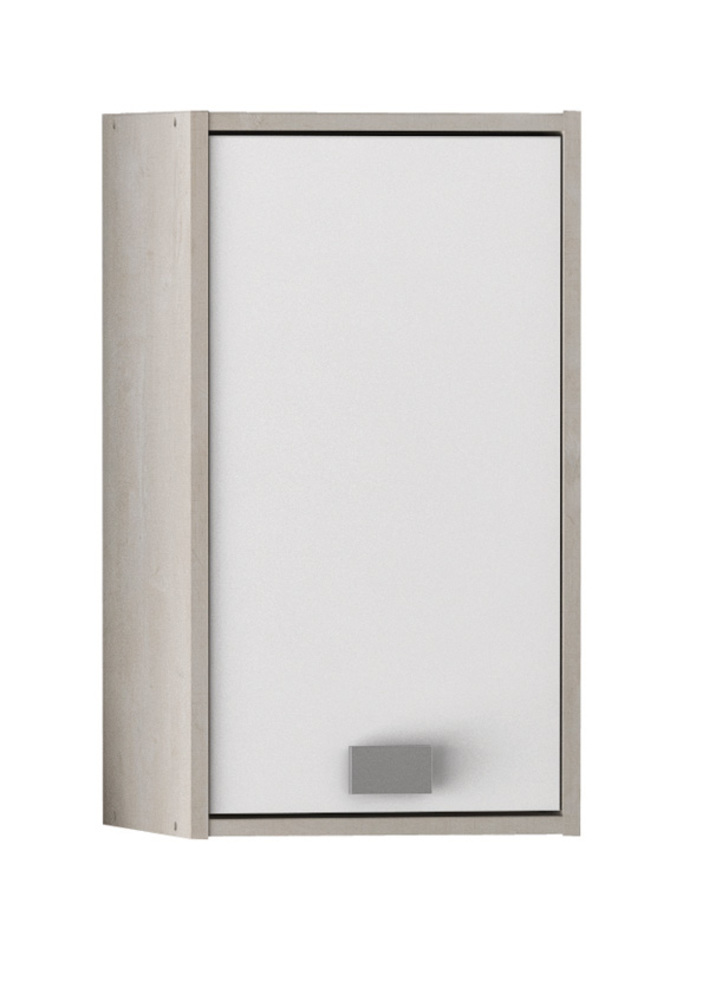 Element haut 1 porte hawai chene champagne blanc for Meuble demeyere conforama