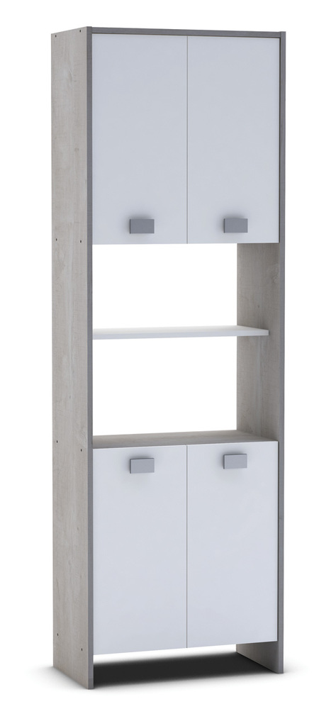 colonne 4 portes hawai chene champagne blanc. Black Bedroom Furniture Sets. Home Design Ideas