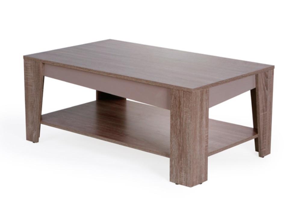 table basse arcangue chene gris. Black Bedroom Furniture Sets. Home Design Ideas