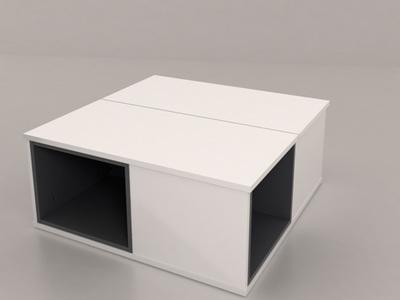 table basse relevable fabio blanc blanc et gris brillant. Black Bedroom Furniture Sets. Home Design Ideas