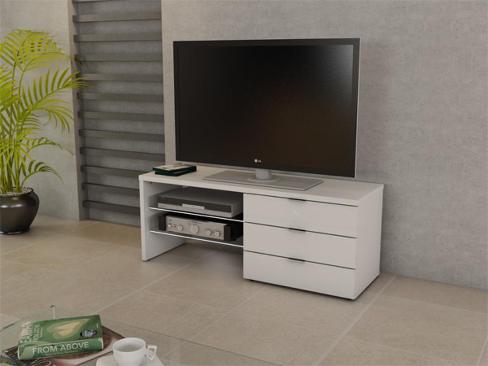 meuble tv marlin blanc. Black Bedroom Furniture Sets. Home Design Ideas