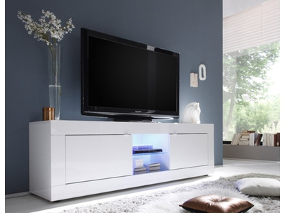 Meuble tv gm Basic blanc brillant