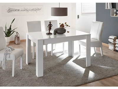 Table de repas Costa blanc brillant
